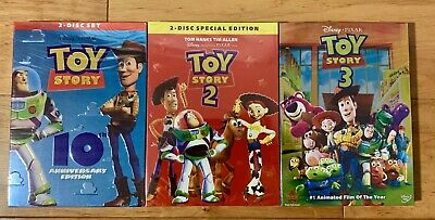 Disney: Toy Story 1, 2 & 3 DVD COMBO **GREAT DEAL** **FREE SHIPPING**