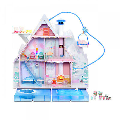 LOL Surprise Winter Disco Chalet Doll House 95+ Surprises Exclusive Family Gift