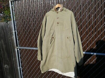 Vintage 40's WW2 Reversible Ski Parka US Army 1942 Made in USA10th Division
