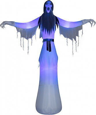 Inflatables Female Ghost Yard  Outdoor 12 Ft Halloween Airblown Lightshow Decor