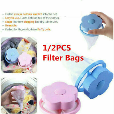 Floating Pet Fur Catcher Laundry Lint Hair Remover Tool Cleaning Washer Filter