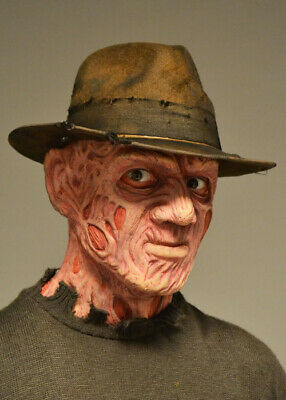 Freddy Krueger Style Distressed Brown Fedora Hat