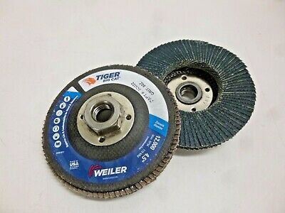 """NEW! Weiler 4-1/2"""" Flap Disc, Type 27, 5/8""""-11 Mounting Hole, Medium, 80 Grit"""