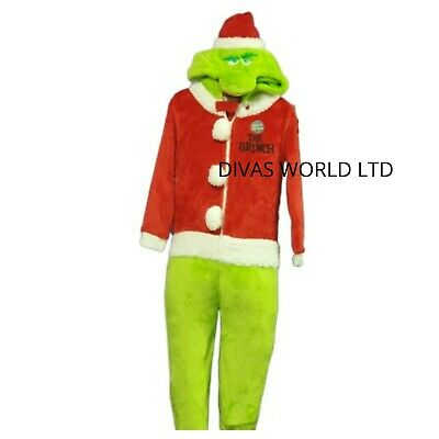 The Grinch ONESY Kids Sleepsuit Pj Girls Boys Pyjama All in One Pj's Primark