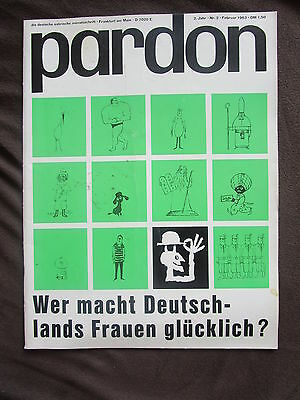 pardon 2 1963 John Steinbeck Frauen Gastarbeiter Journalist STERN Satire Cartoon