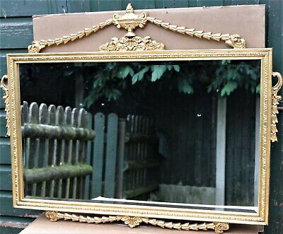 Beautiful Very Large Ornate Gilt Framed Bevel Edged Wall Mirror