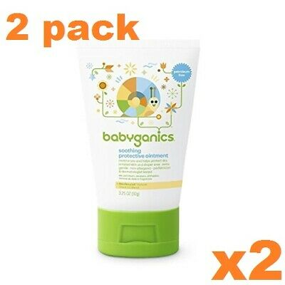 2 pack Babyganics Soothing Protective Ointment Lotion - 3.25 oz each FAST SHIP