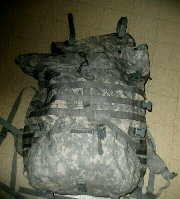 ACU Large MOLLE Field Pack Complete w/Belt S.Straps & Frame US Military Army VGC
