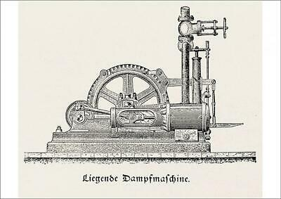 19520863 A2 (59x42cm) Poster of Steam engine, horizontal