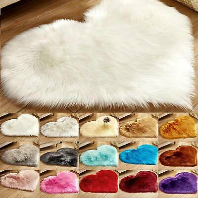 Large Faux Rabbit Fur Rug Fluffy Soft Wool Shaggy Area Rugs Carpet Bedroom Mat
