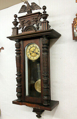 Antique Wall Clock Regulator Clock 19th ct.*F.M.S.*Friedrich Muthe Schwenningen*