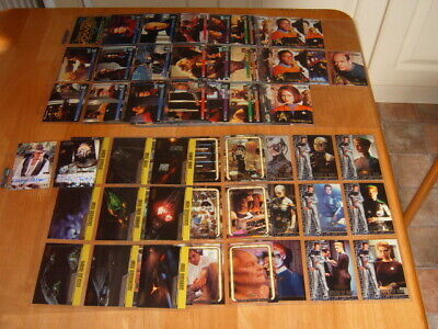 Complete Basic set 90 Star Trek Voyager Profiles 1998 Trading Cards + chase card