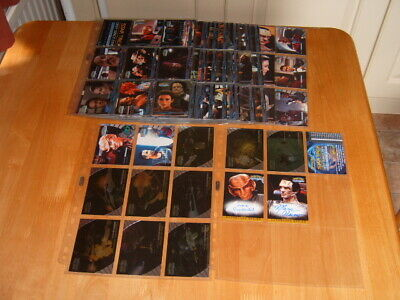 Complete set of 100 Star Trek Deep Space Nine 1999 Trading Cards  + subsets