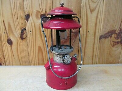 Coleman 200a Camping Lantern Red 11 77 Vintage 1977 Single Mantle