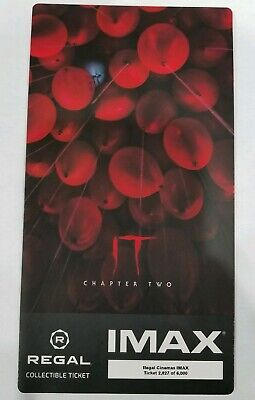 IT Chapter 2 Movie IMAX Regal Collectible Ticket Exclusive theater only !!!