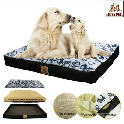 Pet Washable Jumbo Large Cat Dog Bed Cushion Mattress Kennel w/ Removable Cover