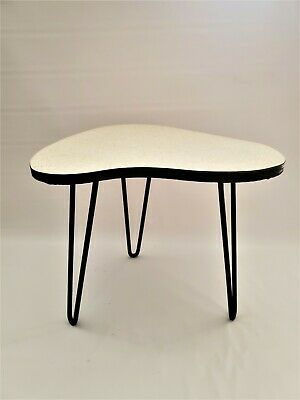 Vintage Mid-Century Modern Formica Hairpin Table Retro Atomic Plant Stand Side