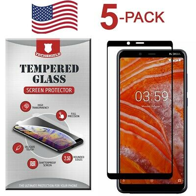For Samsung Galaxy A10 Full Edge Tempered Glass Screen Protector [5-Pack]