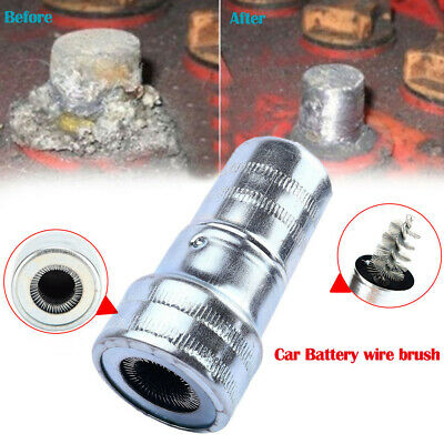 Car Cleaning Battery Post Terminal Cable Cleaner Dirt Corrosion Brush Hand Tool