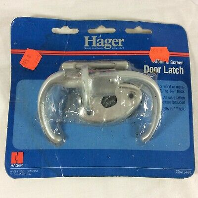 Vintage Storm & Screen Door Latch NOS Hager Hinge Trailer Camper Metal Latch Old
