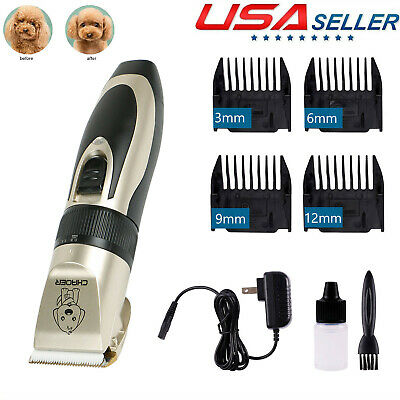 Pet Grooming Clippers Kits Low Noise Dog Cat Rechargeable Cordless Hair Trimmer