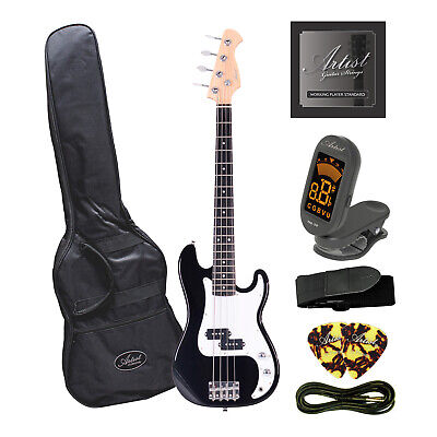 Factory 2nd Artist MiniP 3/4 Size PB Style Electric Bass Guitar + Accessories