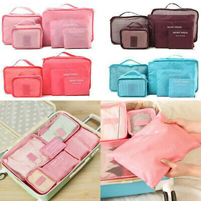 Travel Storage Bag Set for Clothes Luggage Packing Cube Organizer Suitcase