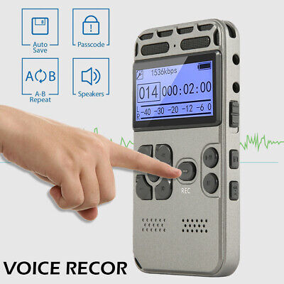 8G Rechargeable LCD Digital Audio Sound Voice Recorder Dictaphone MP3 Player New