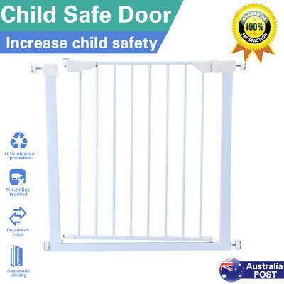 Adjustable Width Baby Pet Child Safety Security Gate Stair Barrier Durable