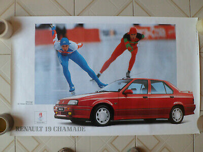 Renault 19 Chamade 16S - 1992  // Affiche Poster Garage