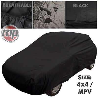 Black Indoor & Outdoor Frost Rain UV Breathable Full Car Cover for 4x4 SUV & MPV