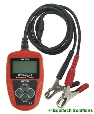 Sealey Tools BT105 Digital Battery & Alternator Tester 12V LCD Screen