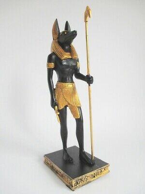 Anubis God of the Dead Standing 16 cm Poly Figurine Egypt Collection