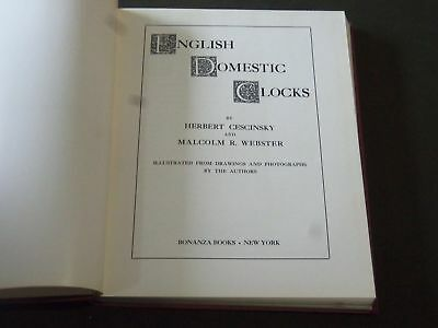 1968 English Domestic Clocks Book By Herbert Cescinsky & Malcolm Webster - I 507