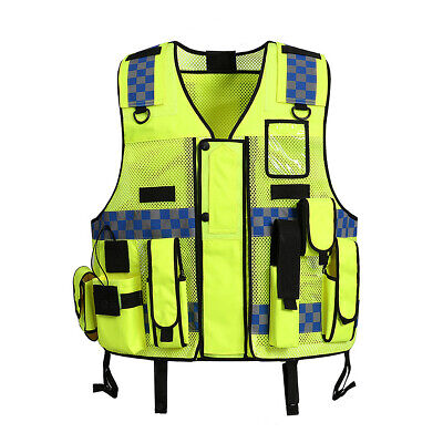 Mesh Breathable Fluorescent Yellow Safety Clothing Safety Adjustable Hi-Vis Safe