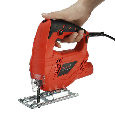 Electric Jig Saw Variable Speed Power Tools Metal Wood Cutting with 10 Saw Blade