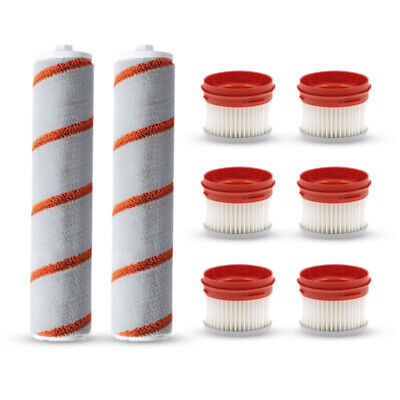 8PCS Roller Brushes Filter Replacements for Xiaomi Dreame V9 Cordless Handheld V