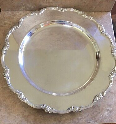 """Vintage Camusso Sterling Silver 12"""" Plate Platter Tray 439 Grams"""