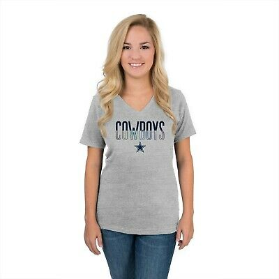 New Dallas Cowboys Her Style NFL Football V-neck women's Small S shirt NWT