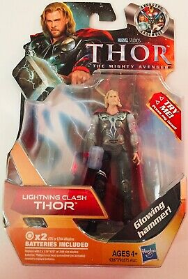 "THOR Lightning Clash The Mighty Avenger Marvel Hasbro Action Figure 3.75"" movie"