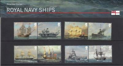 GB 2019 ROYAL NAVY SHIPS PRESENTATION PACK No 576 MINT STAMP SET SG 4264 4271