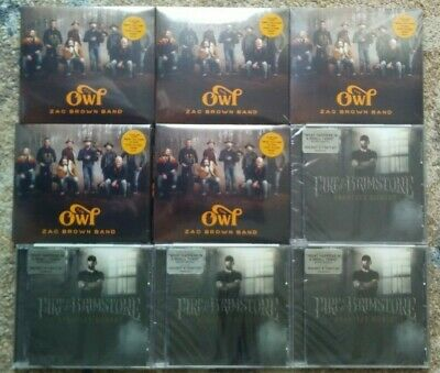 CD Lot: (The Owl  By Zac Brown Band & Fire & Brimstone by Brantley Gilbert) NEW!