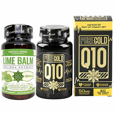 Lemon Balm and Coenzyme Q10 Strong Antioxidant Heart Health Energy Booster