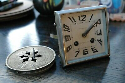 Antique French Art Deco Belarulle Clock Face With Japy Freres Movement - Spares
