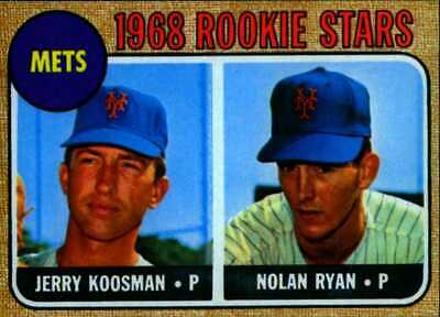 Lot of 5 1968 Topps #177 Nolan Ryan rookie reprint cards New York Mets free ship