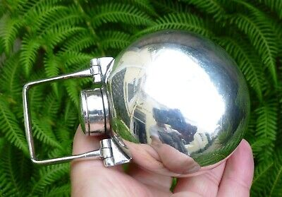 Antique Victorian Silver Plate EPBM Hip Flask Round Bottle Handle Hunting Travel