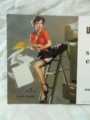 Pinup Girl Swanson-Nunn Electric Advertising  BROWN & BIGELOW Double Trouble