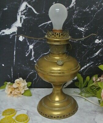 Aladdin Model # 6 Brass Oil Lamp Electrified Table Lamp