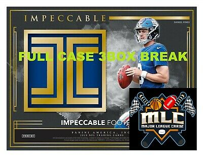 INDIANAPOLIS COLTS 2019 Impeccable Football FULL CASE 3 BOX BREAK - LIVE!