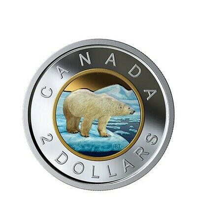 2019 Canada Colourised Pure Silver Two Dollars Toonies from Coloured Proof Set